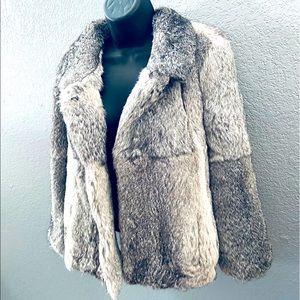 Des Petits Haute Gorgeous Soft Rabbit Fur Coat